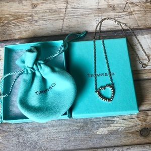 "Tiffany & Co Twisted Rope Heart 925 Necklace 18"" ✨"